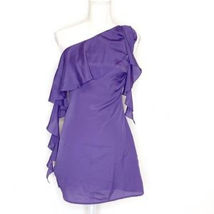 Rory Beca One Shoulder Purple Mini Dress